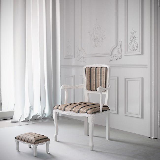 Poggiapiedi Diana Colore Bianco, Multicolore in Legno Di Faggio, L30xP20xA15 cm