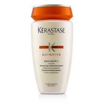 Näringsrikt bain satin 2 exceptionellt näringsschampo (för torrt, sensibiliserande hår) 218967 250ml/8.5oz