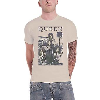 Queen T Shirt Vintage Frame Band Logo Bohemian Rhapsody new Official Mens Sand