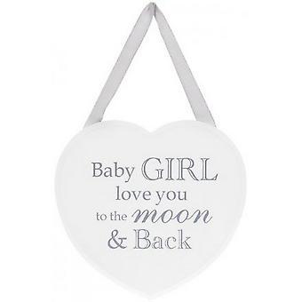 Baby Mädchen Herz Plaque