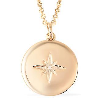 RACHEL GALLEY Star White Diamond Chain Hanger Ketting Vrouwen Sterling Silver