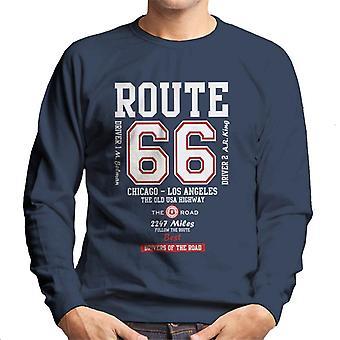 Rota 66 a camisola dos homens velhos da estrada dos EUA ' s