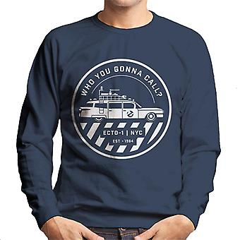 Ghostbusters ECTO 1 NYC Logo Men's Sweatshirt