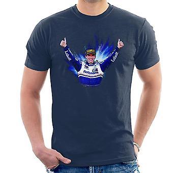 Motorsport bilder Damon Hill firar vinna på Japan Grand Prix män ' s T-shirt