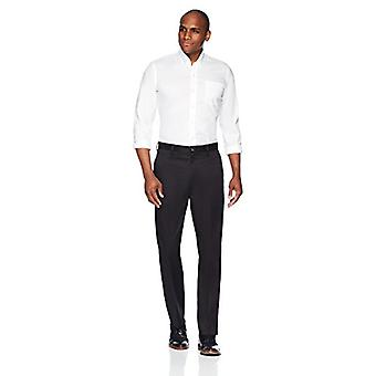 BUTTONED DOWN Men's Relaxed Fit Flat Front Stretch Non-Iron Kleid Chino Hose,...