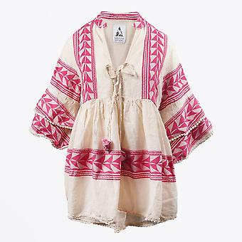Pearl & Caviar  - Embroidered Aztec Blouse - Pink