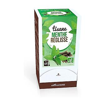 Licorice Mint Herbal Tea 20 infusion bags of 1g