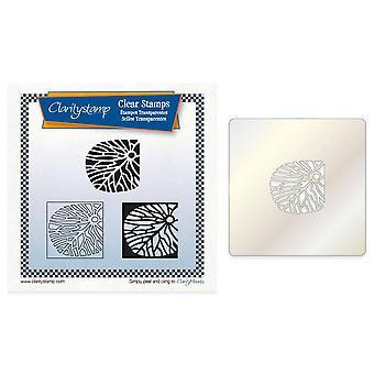 Claritystamp Fossil Petal Tile Square Stamp Set + Stencil