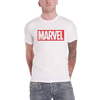 Marvel Comics T Shirt Classic Box Logo new Official Mens White