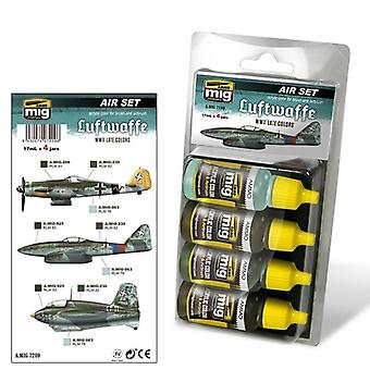 Ammo by Mig Luftwaffe WWII Late Colours Acrylic Paint Set