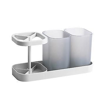 Easy-to-store bathroom toothbrush holder, countertop toiletry storage rack