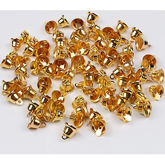 11mm 100pcs Small Gingle Bell Gold Bells Diy Handmade Metal Crafts Wedding Home