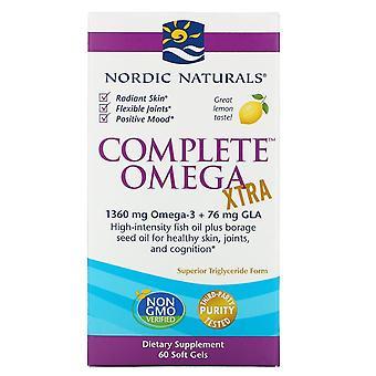 Nordic Naturals, Komplett Omega Xtra, Citron, 1,000 mg, 60 Mjuka Geler