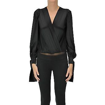 Pinko Ezgl016475 Women's Black Silk Top