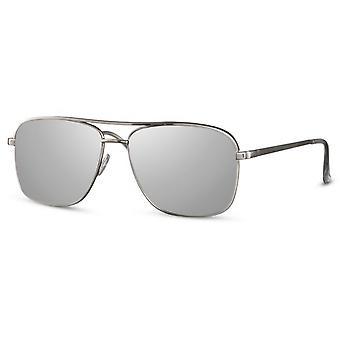 النظارات الشمسية الرجال مستطيلة الرجال كات. 3 فضي / رمادي