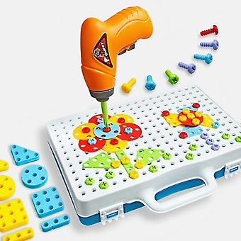 Drill Puzzle Educational Diy Screw Group Kidstool Kit Plastic Boy Jigsaw Mosaic Design Building Toy