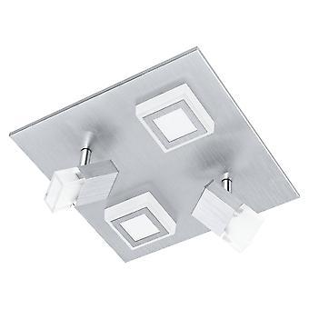 LED Flush Ceiling Light / Spotlight Brushed Aluminium