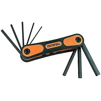 Faithfull Hex Key Folding Set of 8 Metric (1.5-8mm) FAIHKSF8M