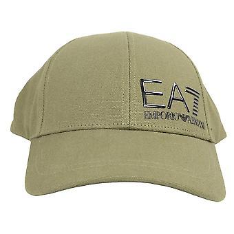 EA7 Emporio Armani Cotton Khaki Baseball Cap
