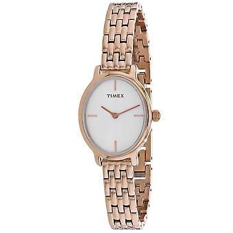 Timex Damen's Klassische weiße Zifferblatt Uhr - TW2R94000