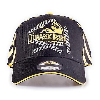 Universal Jurassic Park Logo Street Baseball Cap Unisex Zwart/Geel BA323150JPK