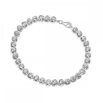 Элементы Серебряные элементы Прозрачный CZ Теннисный браслет B2958C