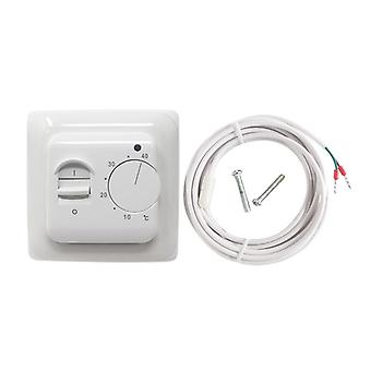Mechanical Floor Heating Thermostat 16a Ac 230v Electronic Temperature Controller Retardant Pcv Room