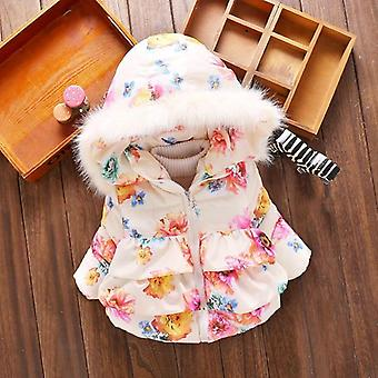 Baby Girl Autumn Winter Coats Jackets Infant Cotton Hooded Outerwear Coats For Newborn Girls