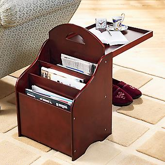 Mesa de rack de la revista Chums Wooden