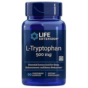 """הארכת חיים L טריפטופהן, 500 מ""""ג, 90 Vcaps"""