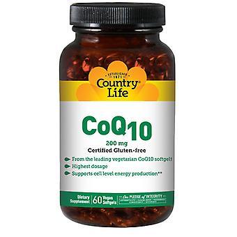 البلد الحياة CO Q 10، 200 ملغ، 60 Softgels