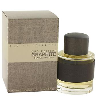 Graphite Oud Edition Eau De Toilette Spray By Montana 3.3 oz Eau De Toilette Spray