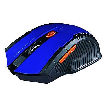 الاشياء المعتمدة® الألعاب اللاسلكية ماوس البصرية - Ambidextrous وErgonomic مع تعديل DPI - 1600 نقطة في البوصة - 6 أزرار - أزرق