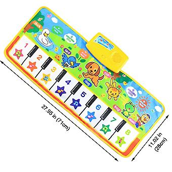 4 Styles Musical Mat With Animal Voice Piano Music Game Instrument Early