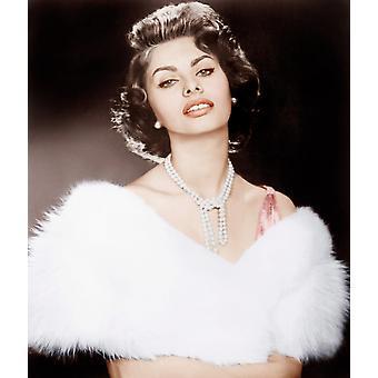 Stolthed og Passion Sophia Loren 1957 Photo Print