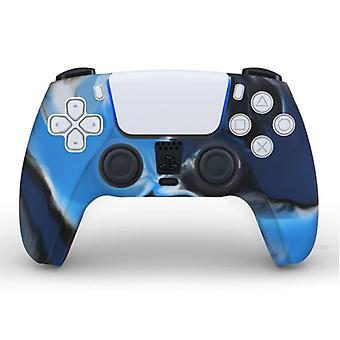 PlayStation 5 Kontrol Ünitesi Kılıfı için Malzeme Sertifikalı® Kaymaz Kollu / Cilt - Grip Cover PS5 - Kamuflaj Mavisi