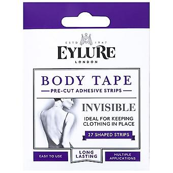 Eylure Body Tape - Pre Cut Adhesive Strips - Invisible (27 Shaped Strips)
