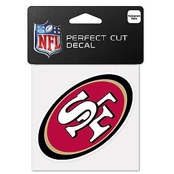 温克拉克贴纸 10x10cm - NFL 旧金山 49 人
