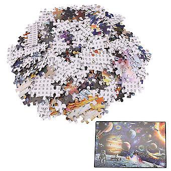 1000pcs 75x50cm Space Style Puzzle Paper Jigsaw Puzzle Kids Adult Toy
