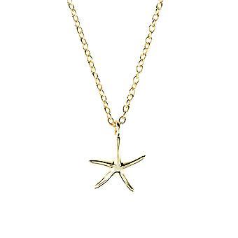 Latelita 925 Sterling Silver hänge stjärna sjöstjärna fisk Halsband Rosé