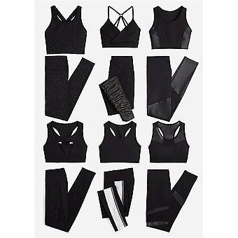 Brand - Core 10 Women's Icon Series - The Dare Devil Sports Bra, black/black shine, L (12-14)