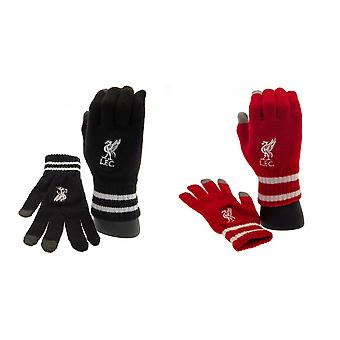 Liverpool FC Official Adults Unisex Touch Screen Knitted Gloves