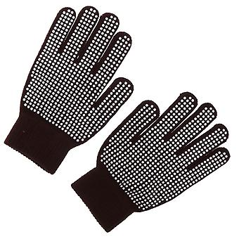 Woven Horse Riding Pimple Grip Gloves, Equestrian Equipment Accessories