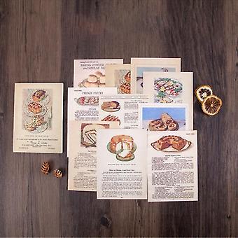 Mr.paper 50pcs/lot Vintage Plants Medieval Draft Paper Card Journaling Bullet