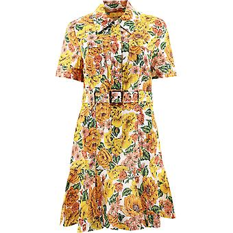 Zimmermann 9369dpopsunshine Women's Multicolor Linen Dress