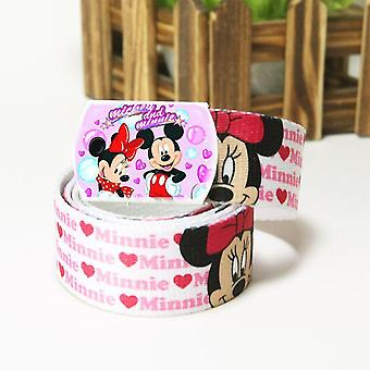 Cartoon Printed Canvas Belt For Kids