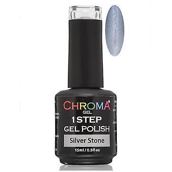 Chroma Gel One Step Gel Polish - Silver Stone