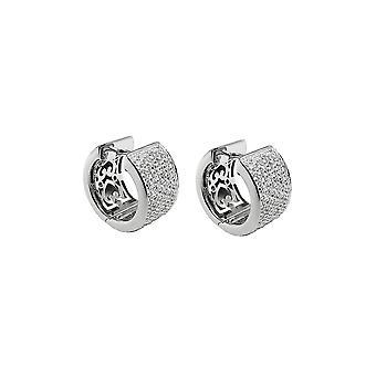 Hoop Earrings Zirconia-white Silver 925