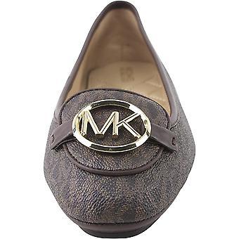 Michael Michael Kors Lillie Moccasin Flats mini logo ruskea kengät koko 9,5