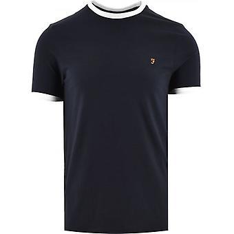 Farah Navy Groves Ringer T-Shirt